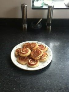 Cheesey Ham and Mustard Pinwheels