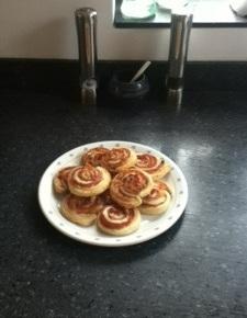 Cheesey Ham and MustardPinwheels