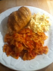 Seasoned Chicken, 'Tommy Pasta' and Coleslaw