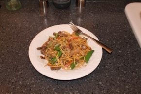 Stir Fried Beef, Vegetables & Noodles