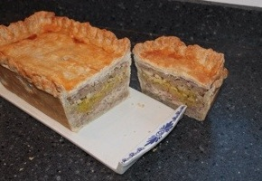 Turkey, Ham & Sausage Stuffing Pie
