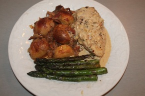 A Eurovision Dinner…Chicken in a Creamy White Wine and Tarragon Sauce with Sides…